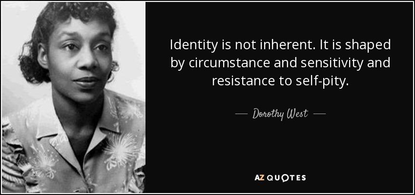 Dorothy Dandridge Famous Quotes: Identity Is Not Inherent